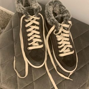 Brand new Dolce vita fur lined suede high tops